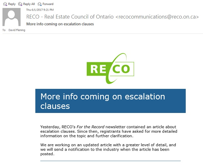 RECO Email