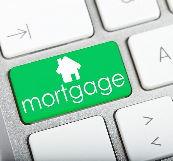 Mortgage button on a keyboard.