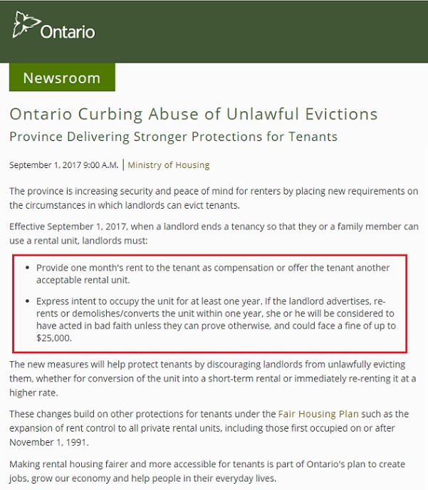 When Does A Landlord Need To Provide Compensation During An Eviction